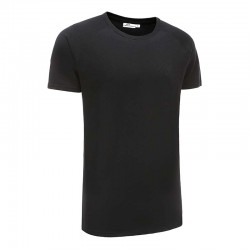 T-shirt zwart basic 220 grams katoen Ollies Fashion