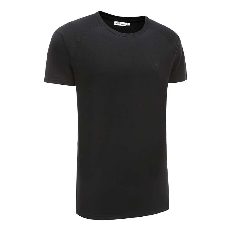 T-shirt schwarz basic 220 gramm baumwolle Ollies Fashion