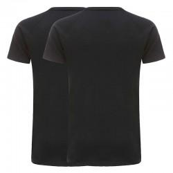 T-shirt herren basic schwarz 220 gramm jersey gaumwolle 2er Set Ollies Fashion