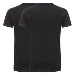 T-shirt basique noir 220 grammes jersey coton ensemble de 2 Ollies Fashion