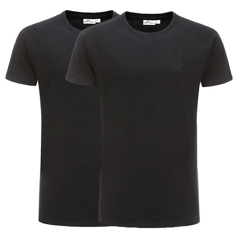 T-shirt Black basic set reglan cotton Ollies Fashion