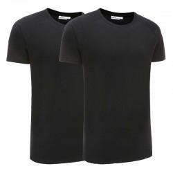 T-shirt men basic black set of 2 Ollies Fashion