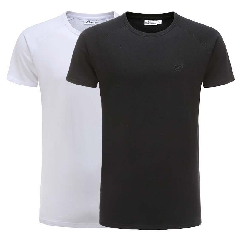 T-shirt schwarz, weiß Grundsatz reglan Baumwolle Ollies Fashion