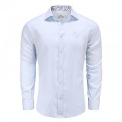 Shirt Männer hellblau Popeline locker geschnitten Ollies Fashion
