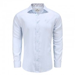 Shirt men light blue poplin loose fit Ollies Fashion