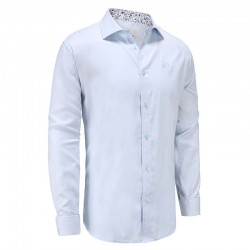 Shirt men light blue poplin Ollies Fashion