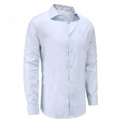 Shirt men light blue poplin Ollies Fashion