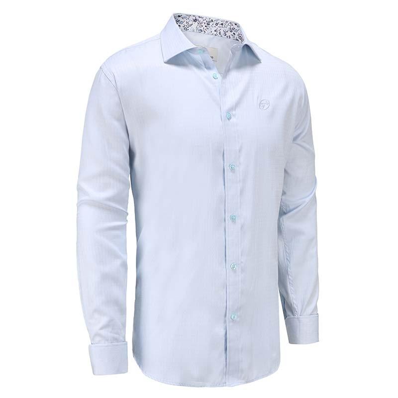 Hemd männer hellblauer popeline Ollies Fashion