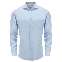 Men's shirt bamboo tailor fit, angle cut cuff Ollies Fashion