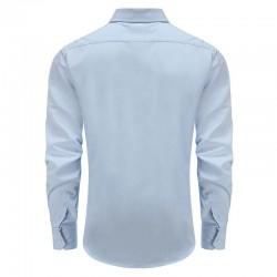 Chemise homme en bambou bleu avec poche poitrine Ollies Fashion