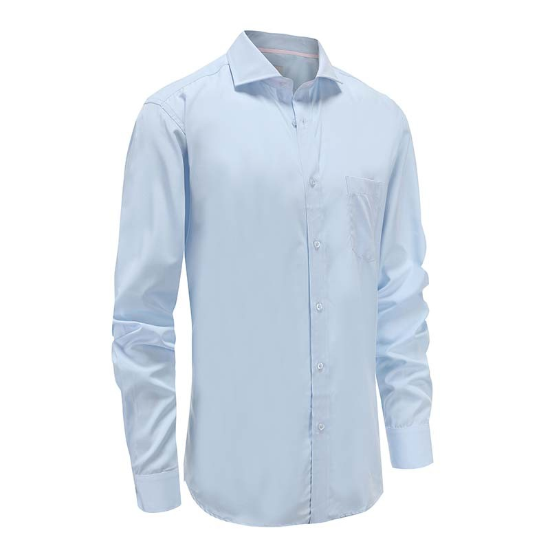 Shirt men's bamboo horizontal collar
