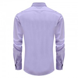 Herren Hemd mit lila um zurück