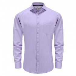 Men's shirt with bamboo pocket purple Ollies Fashion