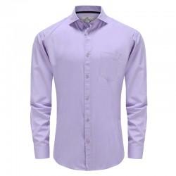 Men's shirt with bamboo pocket purple Ollies Fashion