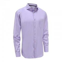 Shirt men's bamboo purple tailored fit Ollies Fashion
