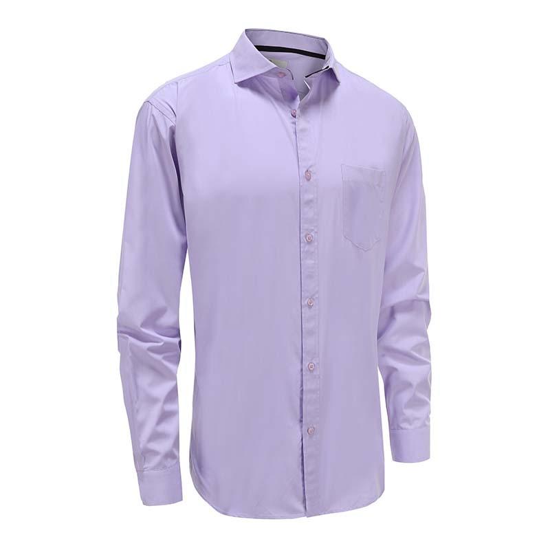 Chemise homme en bambou violet coupe ajustée