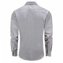Shirt gray melange tailor fit round him