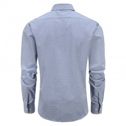 Blue checkered shirt men's tailor fit round him