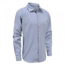 Blau kariert Männer Langarm-Shirt