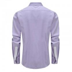 Shirt herren lila weiß dobby Schneider passen Ollies Fashion