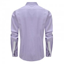 Shirt men purple white dobby tailor fit Ollies Fashion