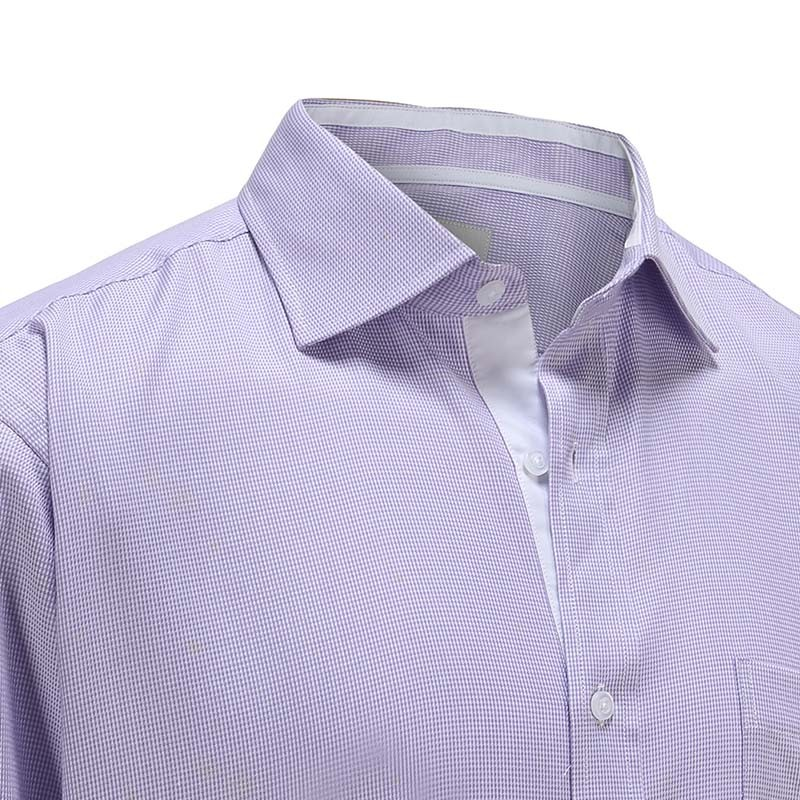 Shirt men purple white dobby Ollies Fashion