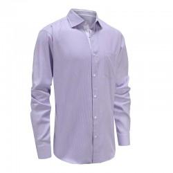 Shirt männer lila weiß dobby Ollies Fashion
