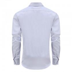 Chemise lilas pour hommes avec ourlet semi-échancré