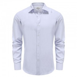 Overhemd heren lila met paarse stip dobby Ollies Fashion