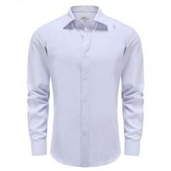 Fliederhemd für herren mit lila dobby Ollies Fashion