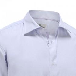 Overhemd heren lila met paarse stip dobby