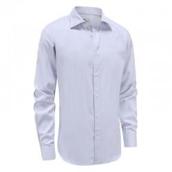 Overhemd heren tailor fit, lila met paarse stip