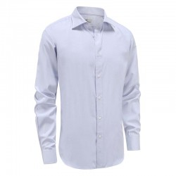Men's tailor fit shirt, lilac with purple dot