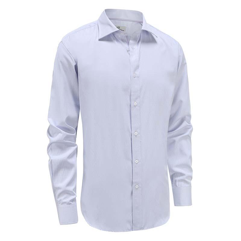 Chemise coupe ajustée pour homme, lilas avec pois violet