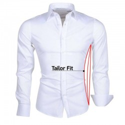 Ollies Fashion tailor fit overhemd lange mouw