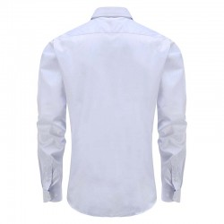 Bamboo shirt white men's tailor fit