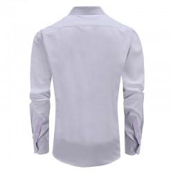 Overhemd heren paars tailor fit ronde hem