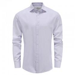 Hemd männer lila dobby, schneidersitz Ollies Fashion