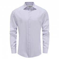 Shirt men purple dobby, tailor fit Ollies Fashion