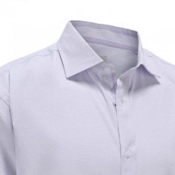 Shirt herren lila dobby mit doppelbesatz im kragen Ollies Fashion