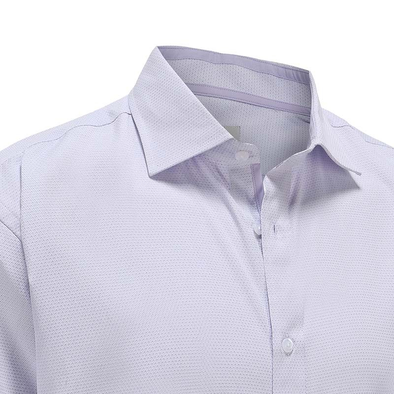 Shirt men purple dobby with double trim in the collar Ollies Fashion