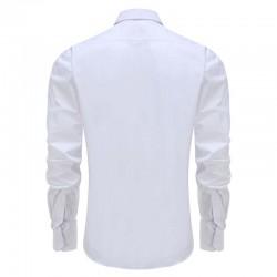 Overhemd bamboe heren wit ronde hem