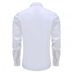 Shirt bamboo white men round him