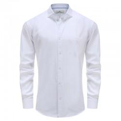 Bambus weißes Hemd der Männer, blaue Kragen