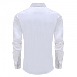 Shirt men's white tuxedo with round back
