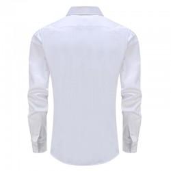 Overhemd heren wit smoking met rond achterpand