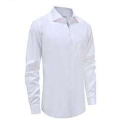 Overhemd heren wit smoking met borstzak Ollies Fashion