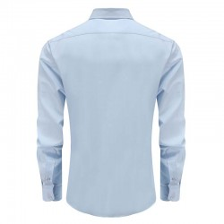 Bamboo shirt with round back men's light blue