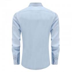 shirt bambou bleu clair des hommes de dos rond