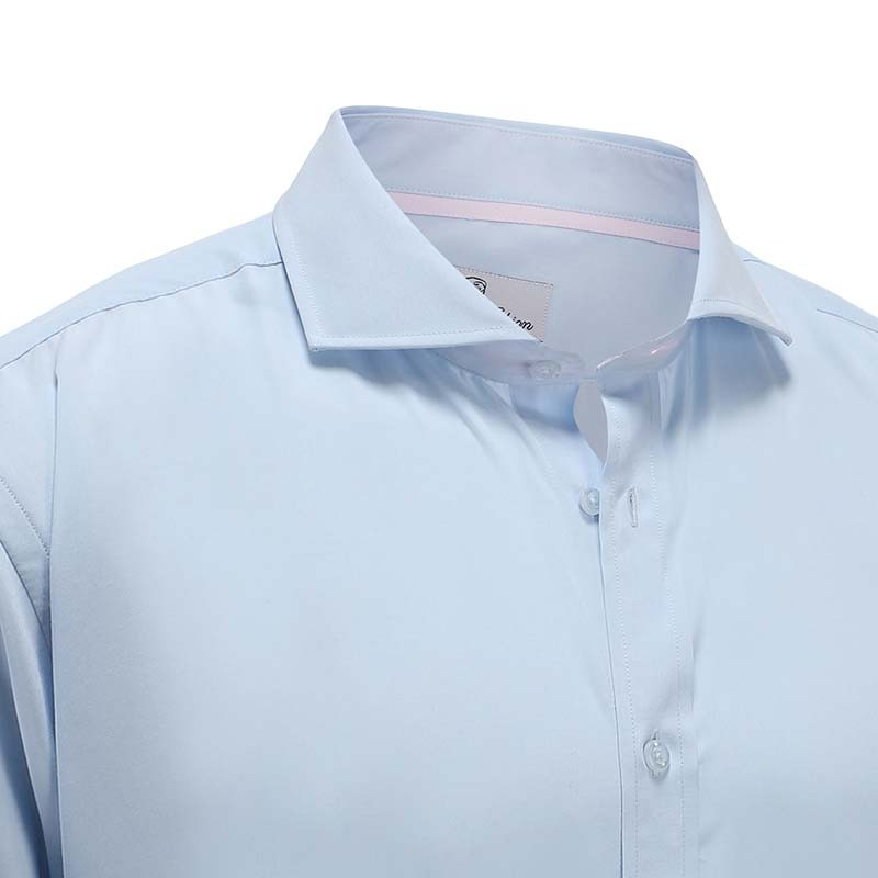 Bamboo shirt light blue men